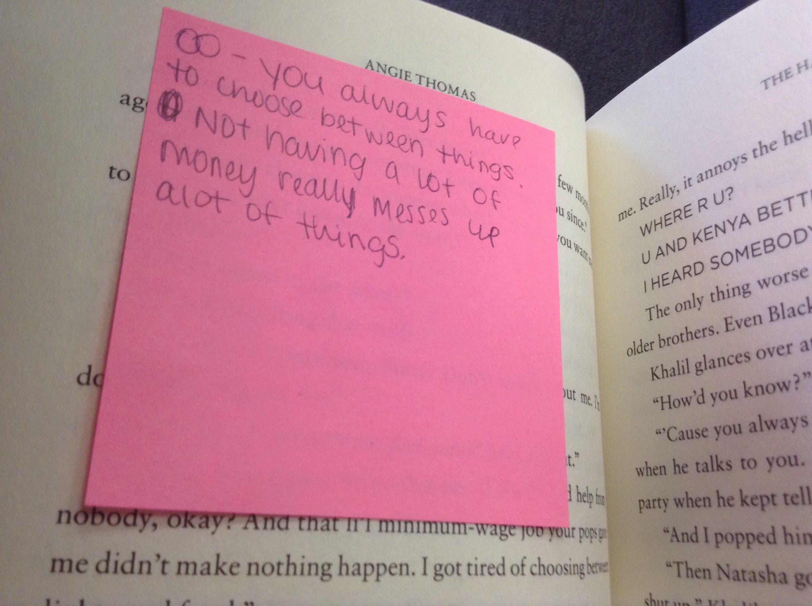 Close Reading The Hate U Give