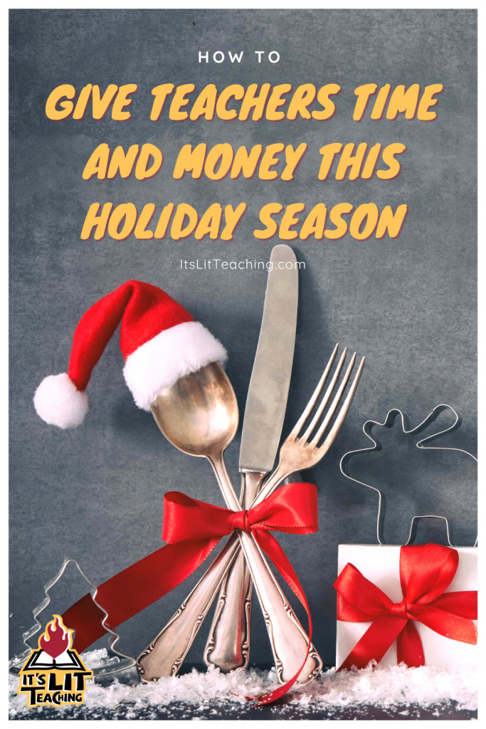 How to Give Teachers Time and Money this Holiday Pinterest Pin 2