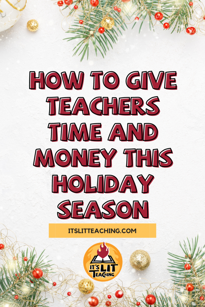 How to Give Teachers Time and Money