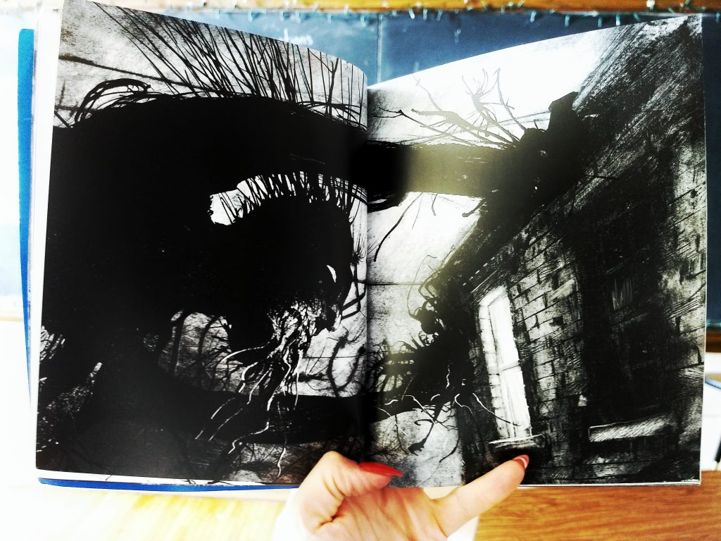 An illustration from A Monster Calls by Patrick Ness