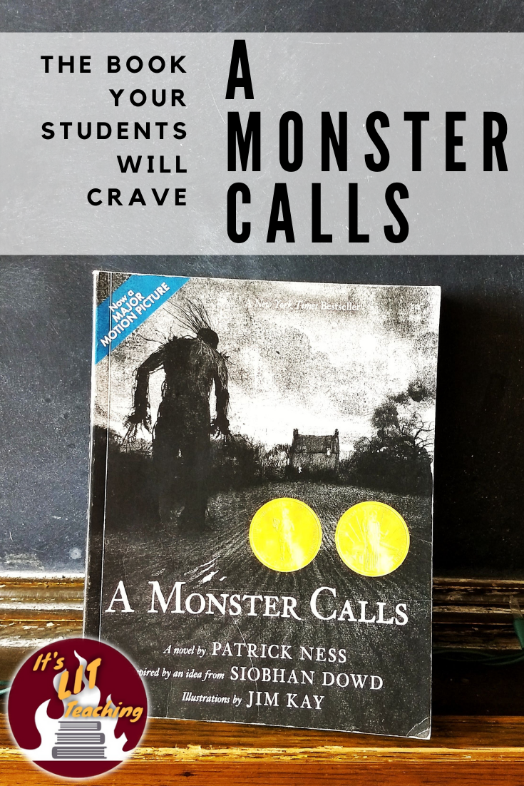 Pinterest pin for blog post A Monster Calls: The Novel Your Students will Crave