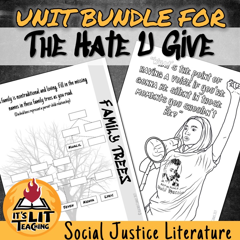 Cover for Teachers Pay Teachers Product: Unit Bundle for The Hate U Give by Angie Thomas