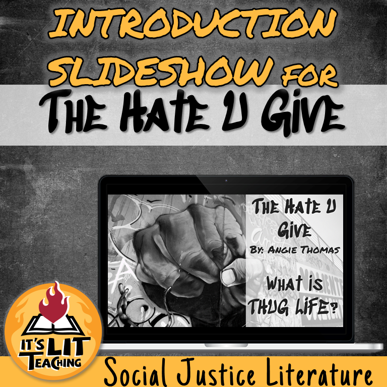 Cover for a Teachers Pay Teachers product: Introduction Slideshow for The Hate U Give by Angie Thomas