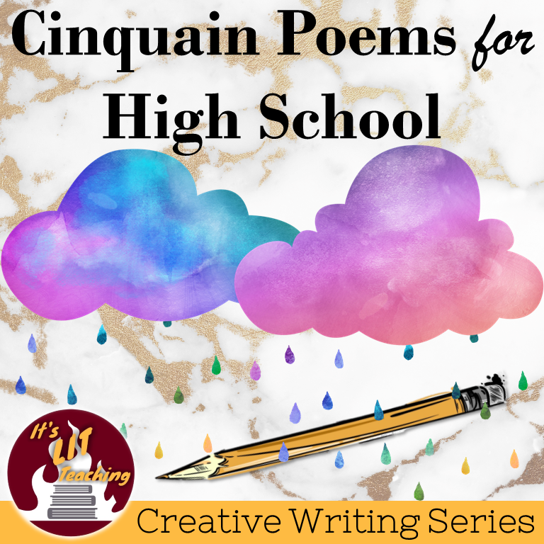 Teachers Pay Teachers cover for product: Cinquain Poems for High School