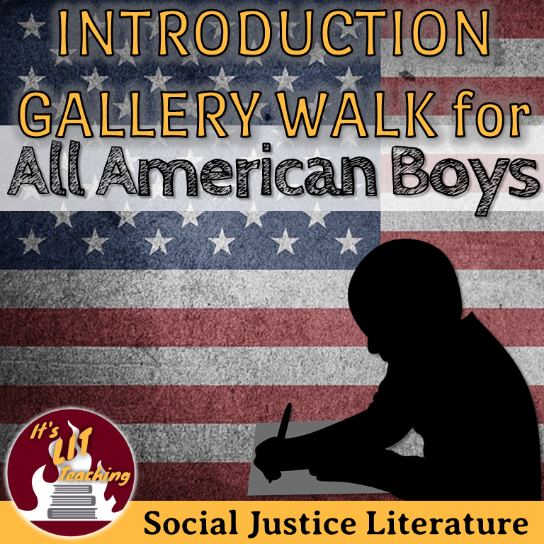 Cover for Teachers Pay Teachers product: Introduction Gallery Walk for All American Boys