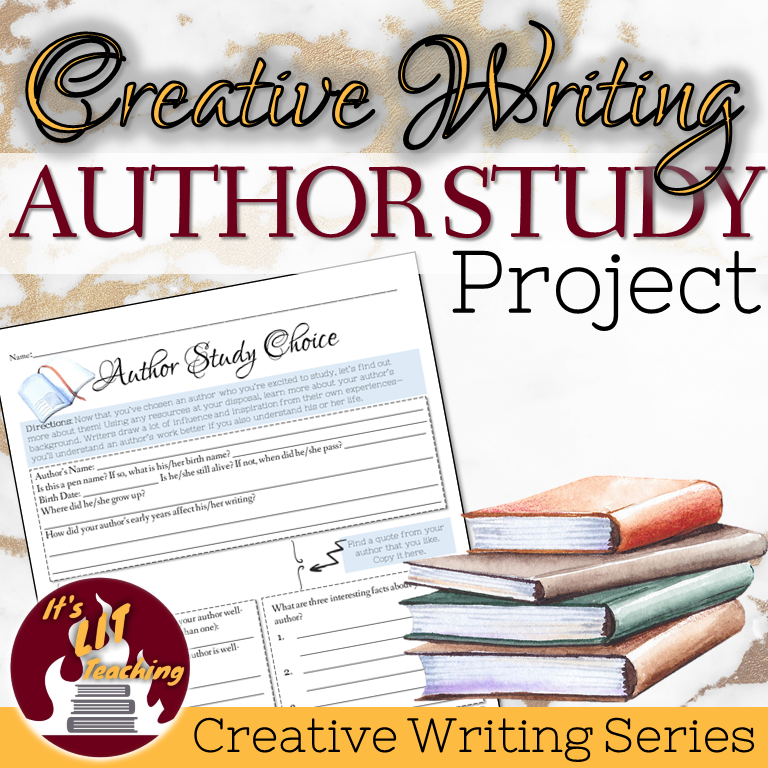 Cover for Teachers Pay Teachers product: Creative Writing Author Study Project