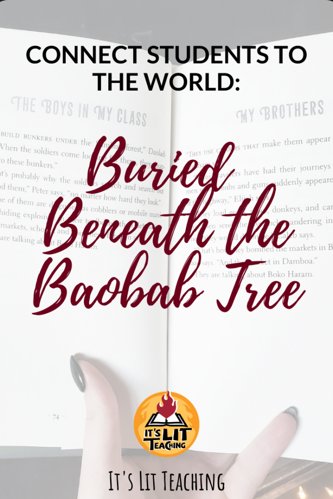 Pinterest Pin for blog post: Buried Beneath the Baobab Tree: Connect Students to the World