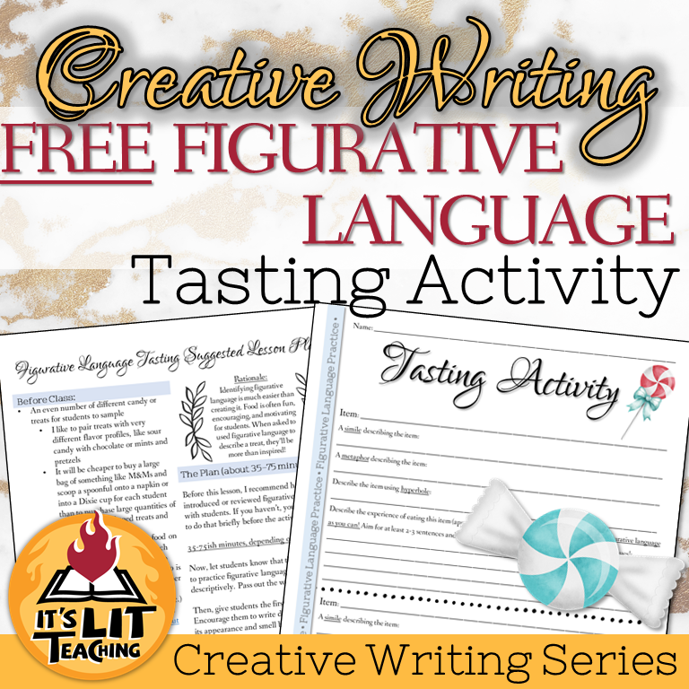 Cover for Teachers Pay Teachers product: Creative Writing Figurative Language Scavenger Hunt