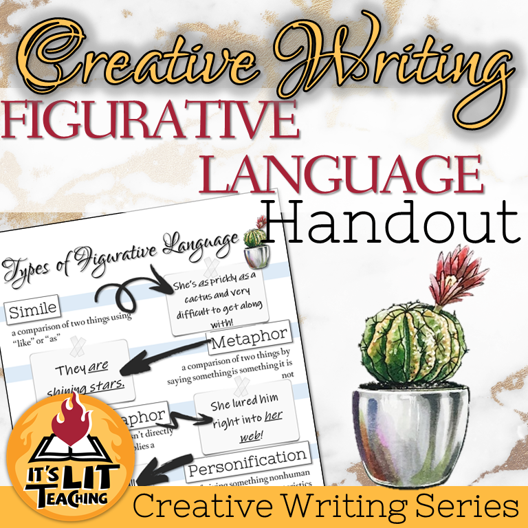 Cover for Teachers Pay Teachers product: Creative Writing Figurative Language Tasting Activity