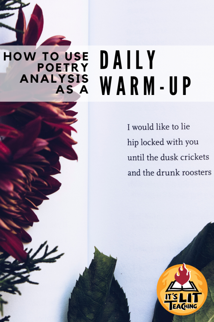 How to Use Poetry Analysis as a Daily Warm-up