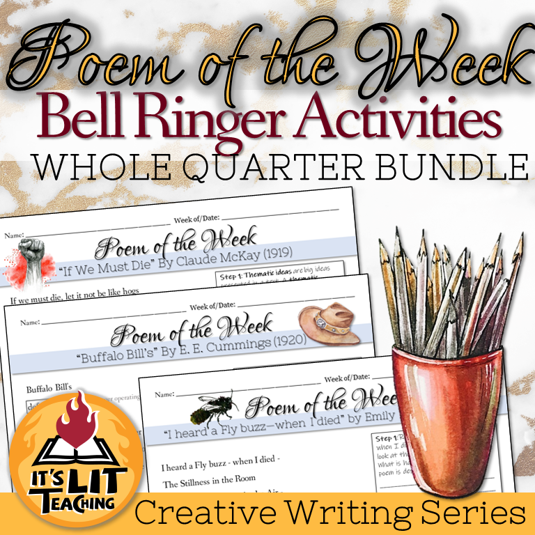 Cover of It's Lit Teaching Product: Poem of the Week Bundle