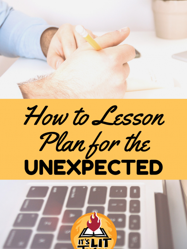 "Pinterest Pin for blog post: ""How to Lesson Plan for the Unexpected"""