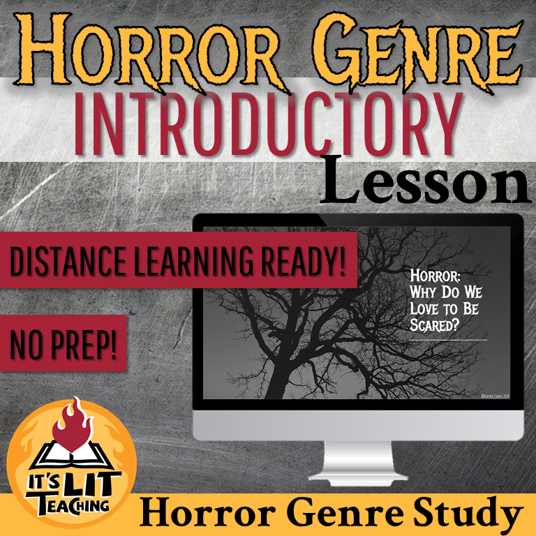 Cover of Teachers Pay Teachers Product: Horror Genre Introductory Lesson