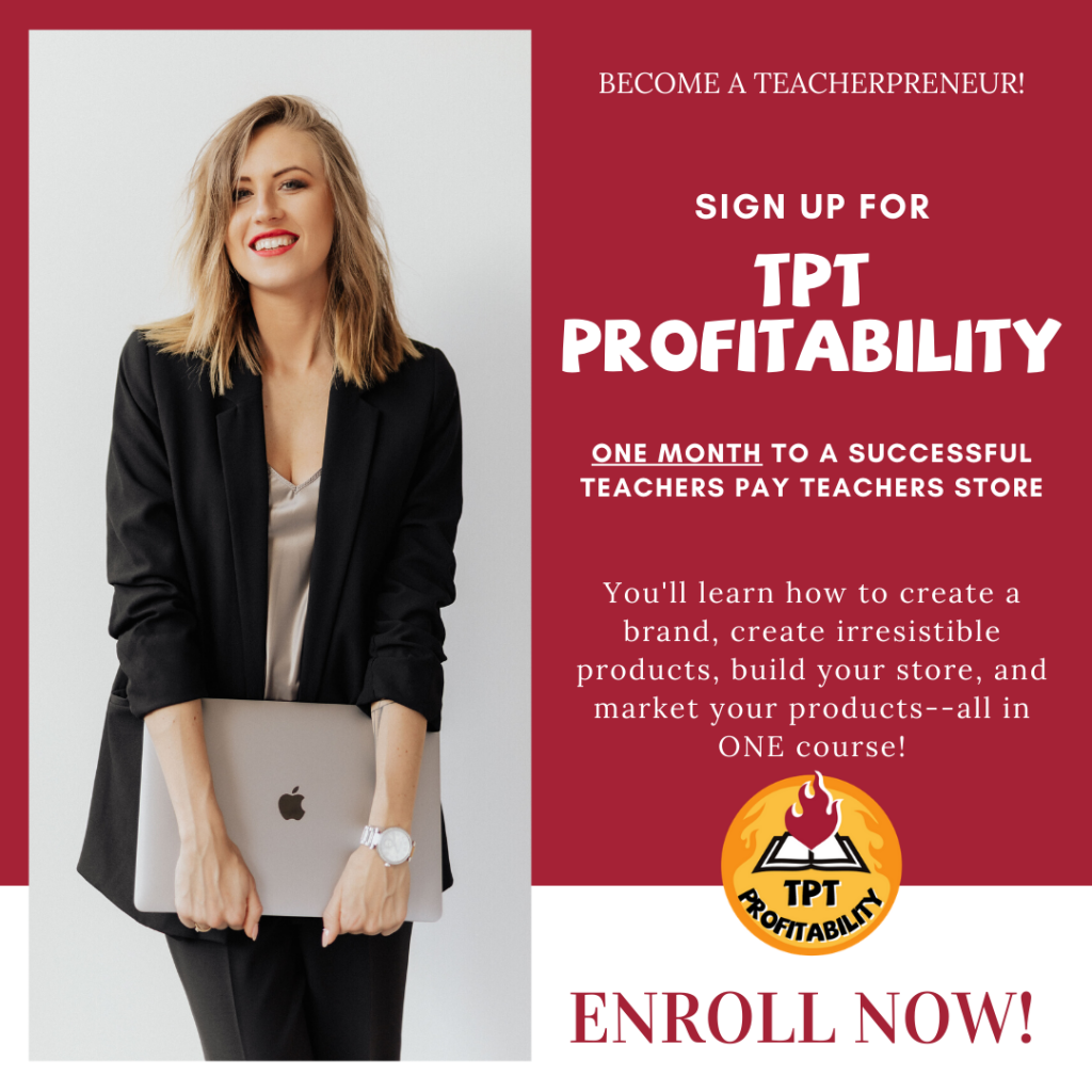 Image for TPT Profitability, a course for starting on Teachers Pay Teachers