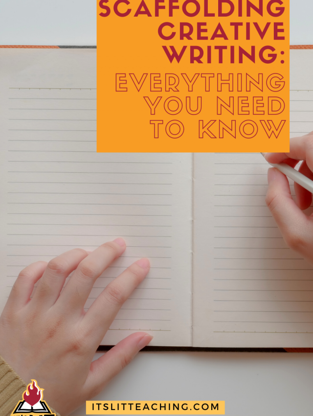 "Pinterest pin cover for blog post: ""Scaffolding Creative Writing: Everything You Need to Know"""