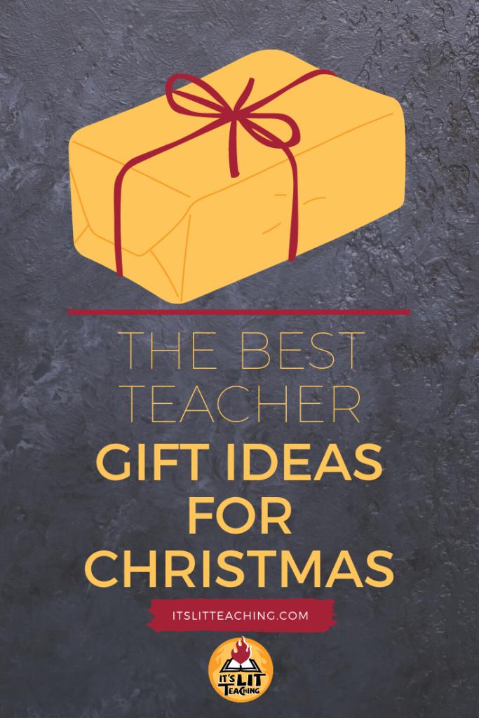"""Pinterest pin for blog post: """"The Best Teacher Gift Ideas for Christmas"""""""