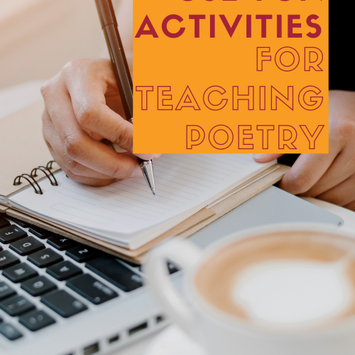 "Pinterest pin for blog post: ""Fun Activities for Teaching Poetry"""