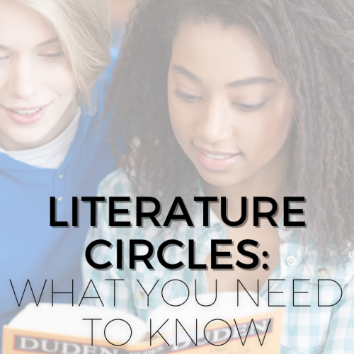 """Pinterest pin for blog post: """"Literature Circles: What You Need to Know"""""""